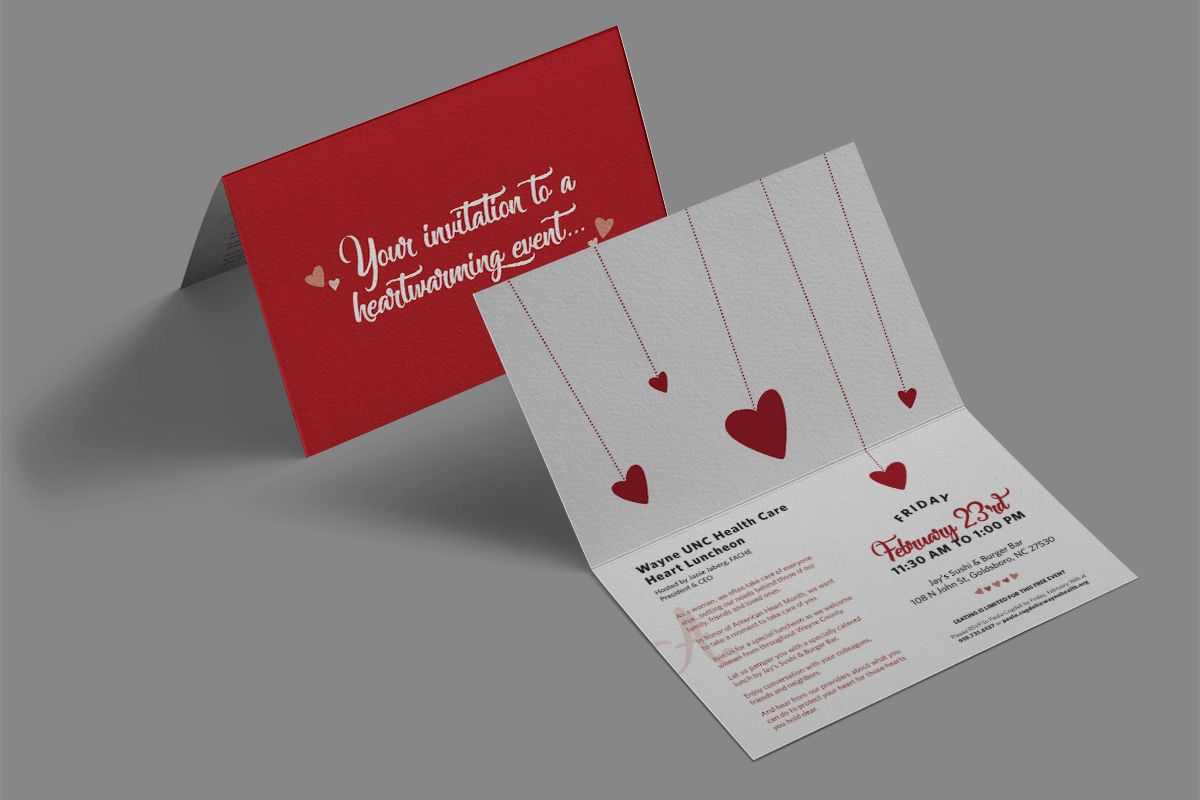 Matters of the Heart Luncheon - Invitation