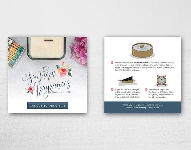 Southern Fragrances Candle Burning Tips | Charlotte, NC | Dana Gray Studio