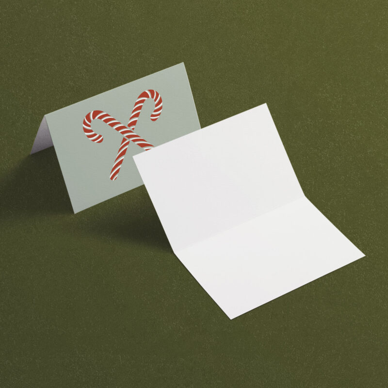 Candy Canes | A7 Greeting Card