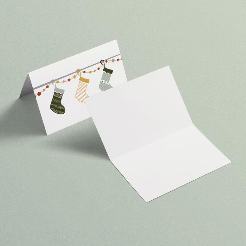 Christmas Stockings | A7 Greeting Card