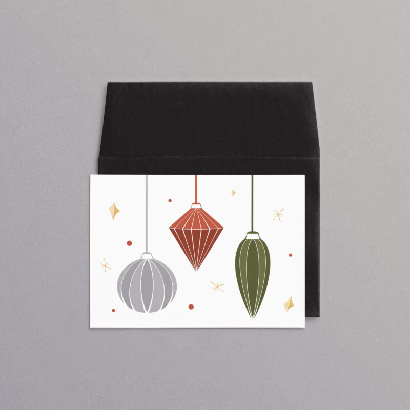 Classic Christmas Ornaments | A7 Greeting Card