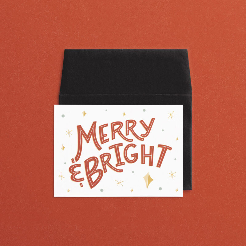 Merry & Bright | A7 Greeting Card