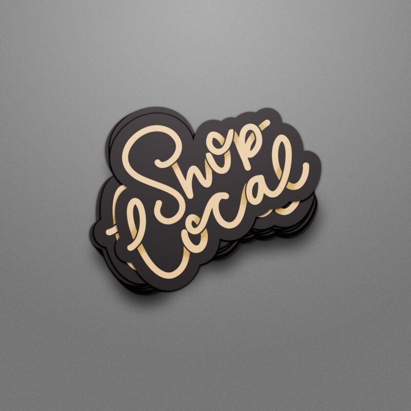 Shop Local Sticker | © Dana Gray Studio