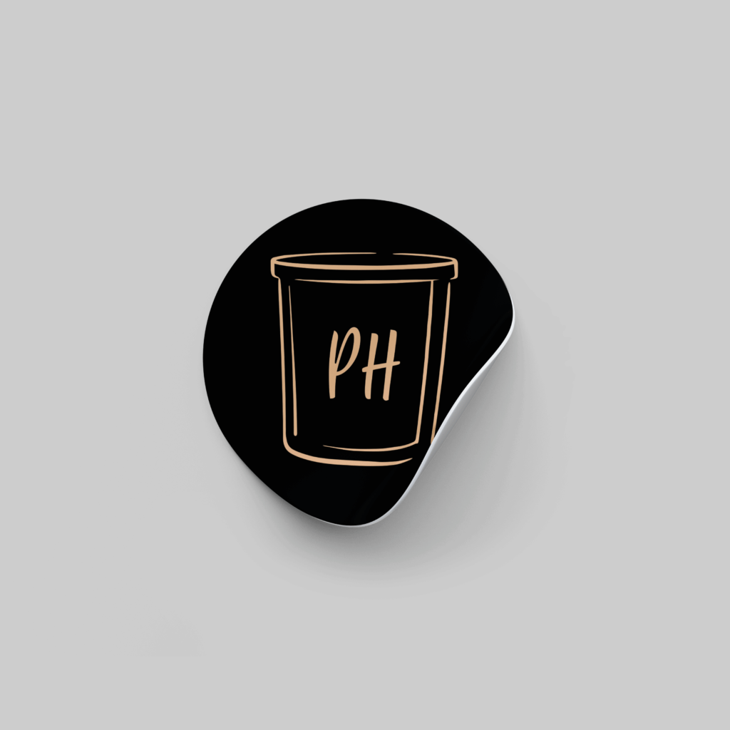 Candle Sticker Design | Pretty Honest Candles