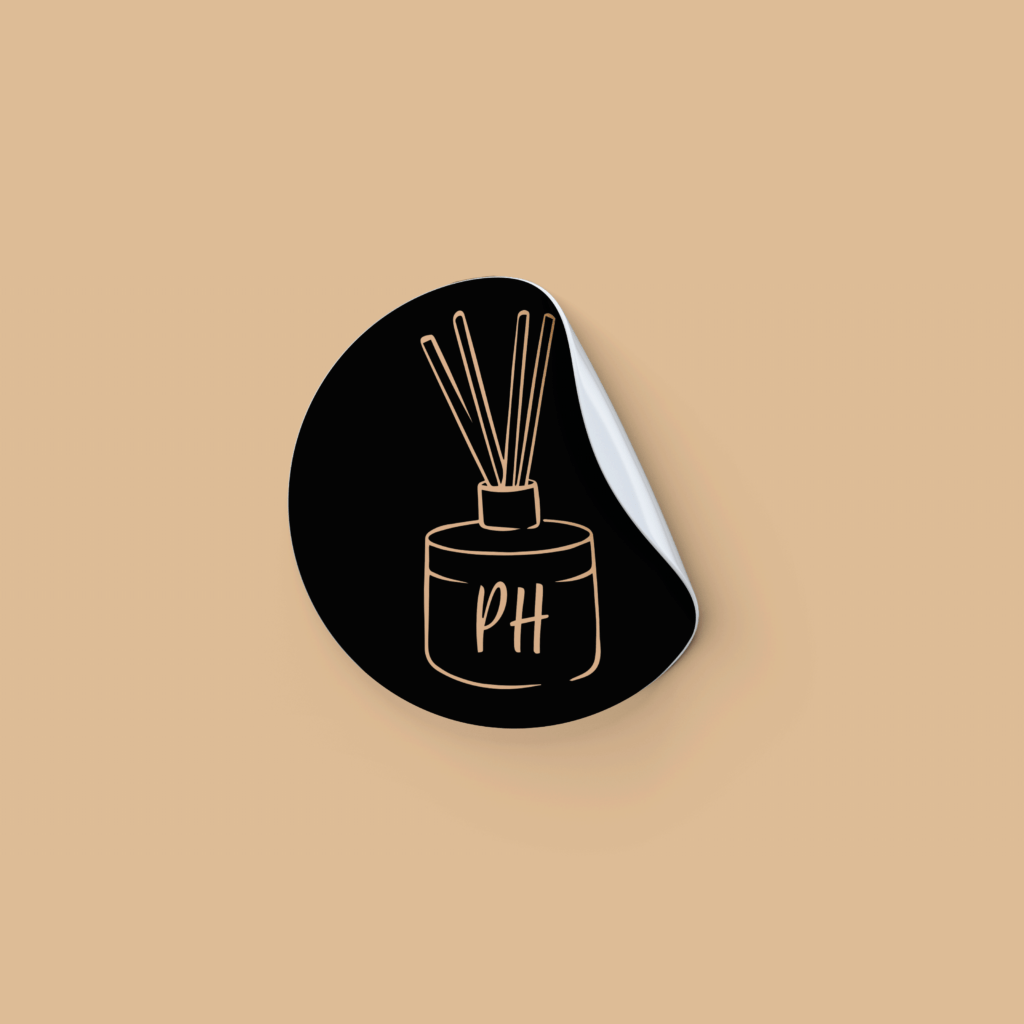 Diffuser Sticker Design | Pretty Honest Candles